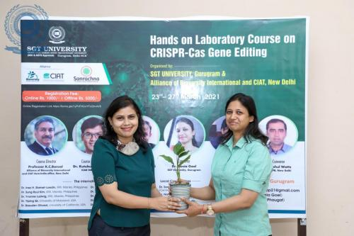 'HANDS ON LABORATORY COURSE ON CRISPR-Cas GENE EDITING'